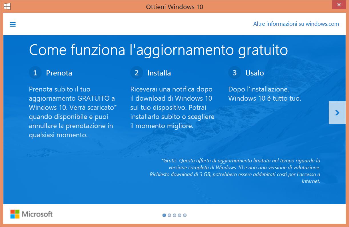 Ottieni Windows 10 - Notifica - Screen1