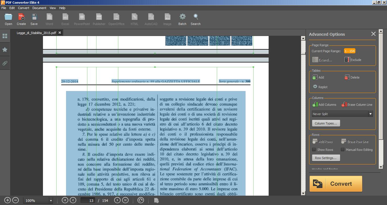 PDF Converter Elite 4 Excel