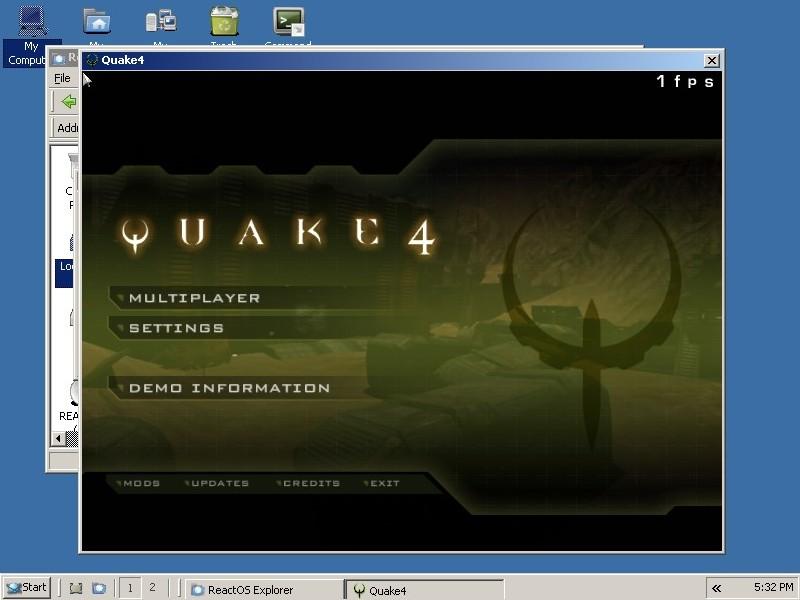 Quake 4 React OS