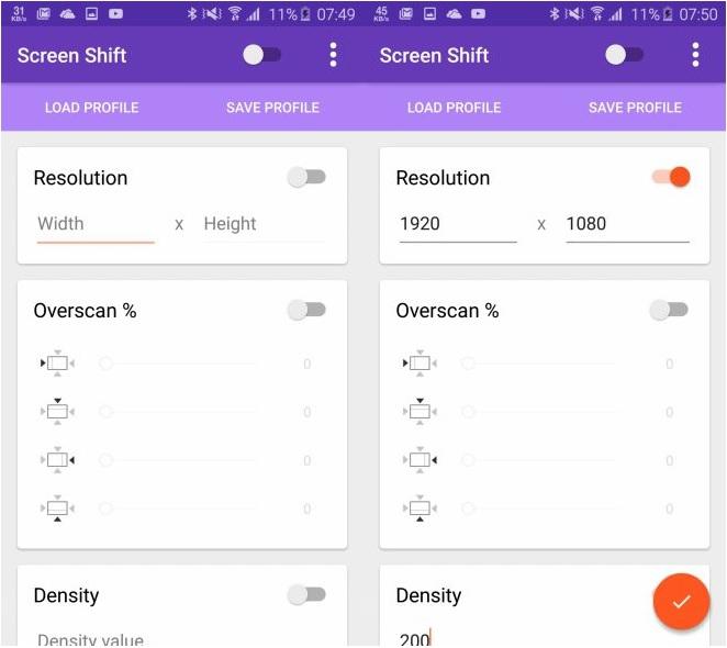 Screen Shift - Screen 1
