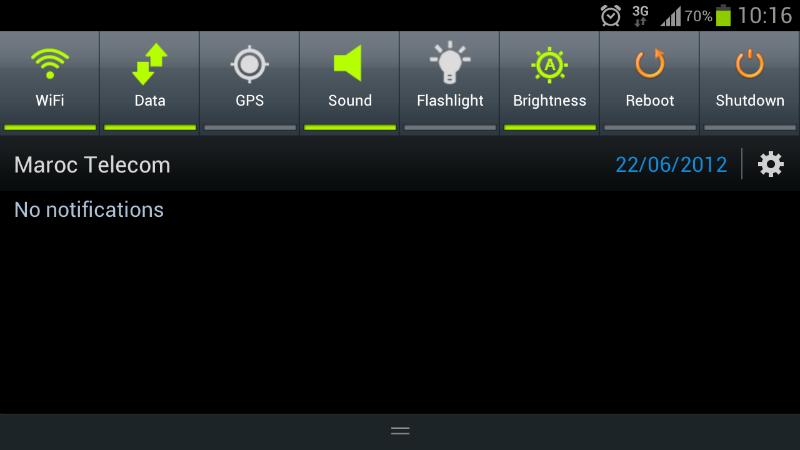 Toggle rapidi Android 2.x