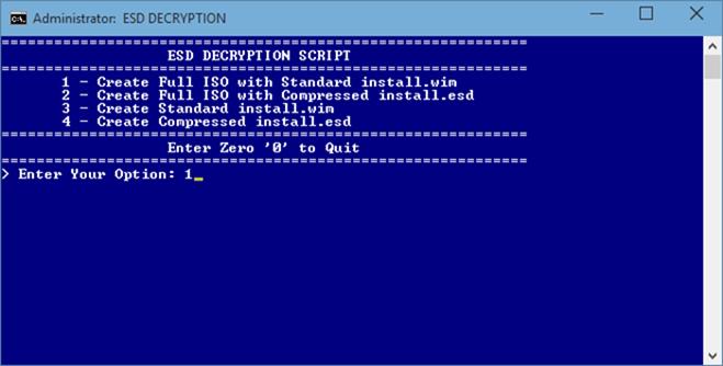 Windows 10 - iso - esd - 2