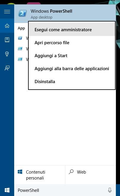 Windows 10 - search - PowerShell