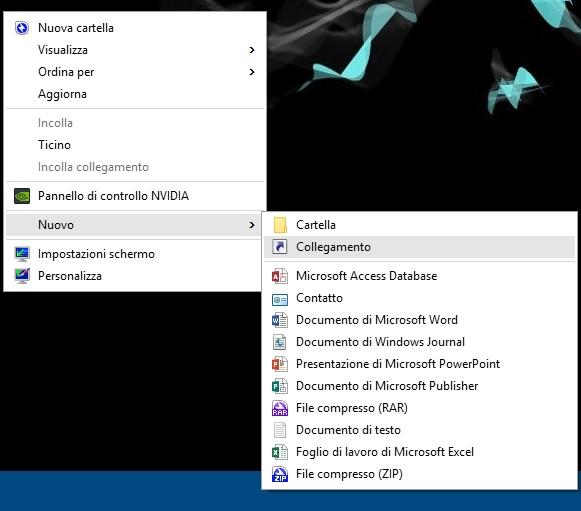 Windows - nuovo - collegamento