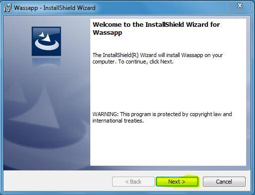 Installazione Wassap