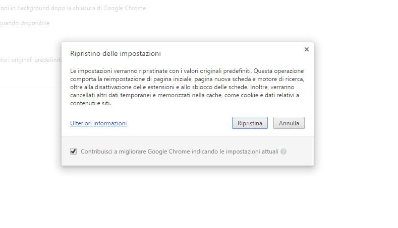 Ripristino Chrome