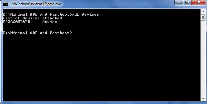 Installer minimale ADB Fastboot