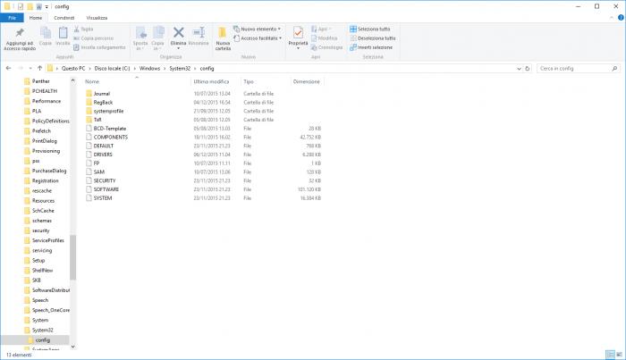 Win-System32-Config-Folder