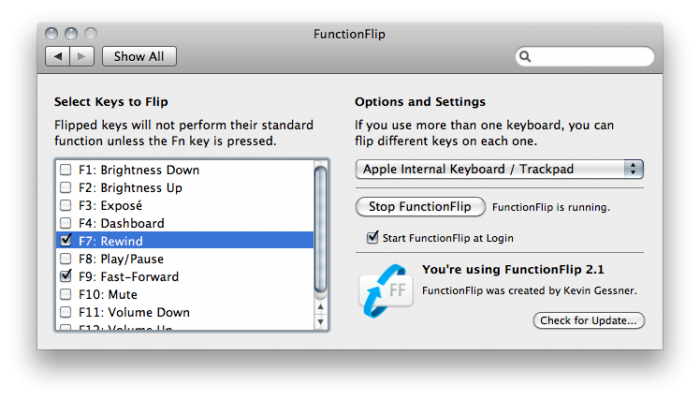 functionflip - screen