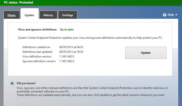 Win10 - Windows Defender