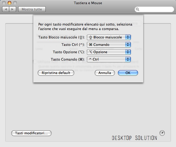 OS X - Tasti Modificatori
