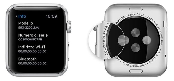 Apple Watch - Numero Serie